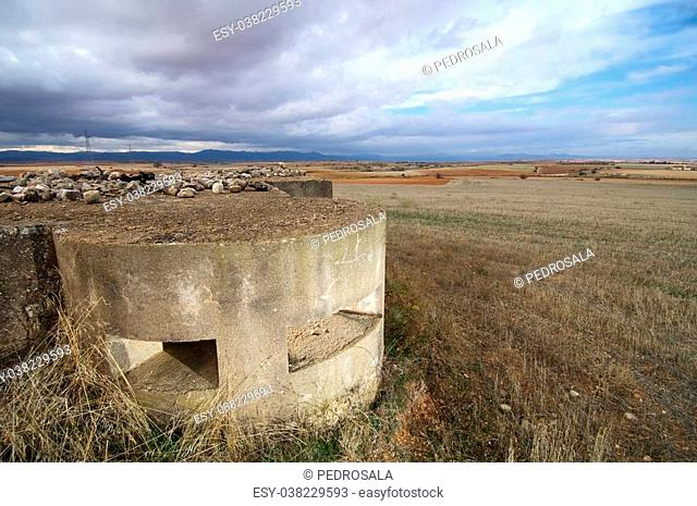 bunker used in the Spanish civil war, Tosos, Saragossa, Aragon, Spain