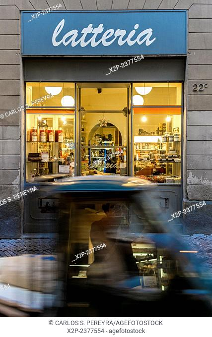 Old and classic shop in Bergamo, Italy