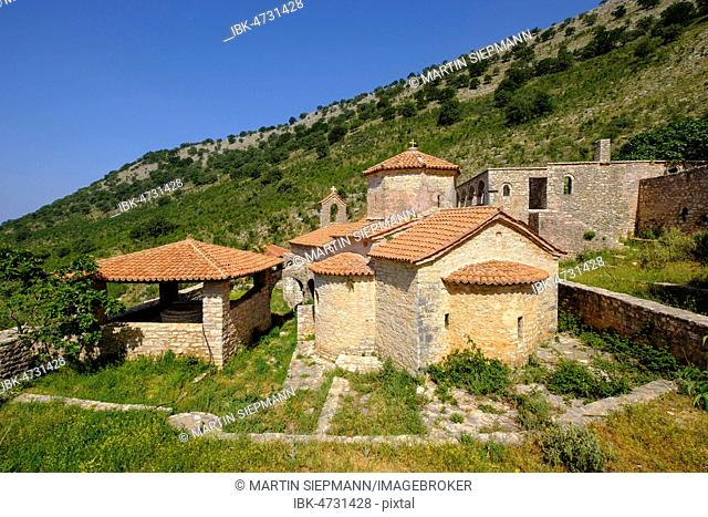 Cross-domed church, Marian Monastery of Kakome, Shën Mërisë, Lukova, Albanian Riviera, Qark Vlorë, Albania