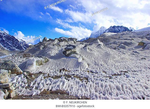 snow near Gokyo, Nepal, Himalaya, Khumbu Himal