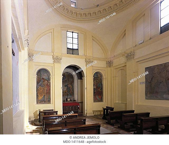 Saint Andrew on via Flaminia (Chiesa di Sant'Andrea in via Flaminia), by Barozzi Jacopo known as Vignola, 1551 - 1553, 16th Century, visible Roman brick work
