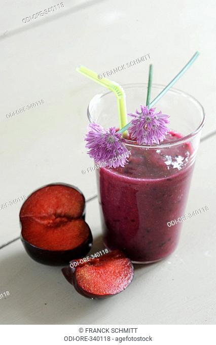 Fruits and orange blossom smoothie