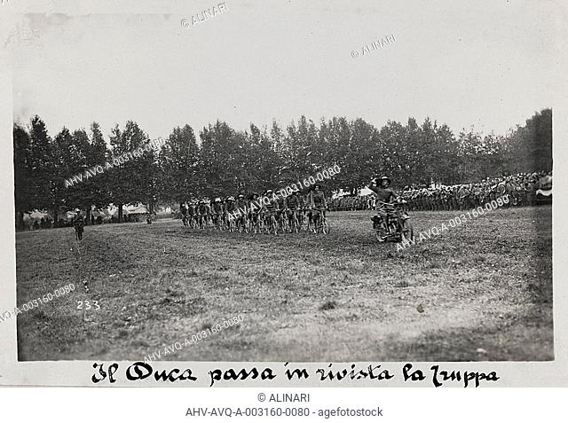 World War I: the Duke mustering the troops, shot 1915-1918