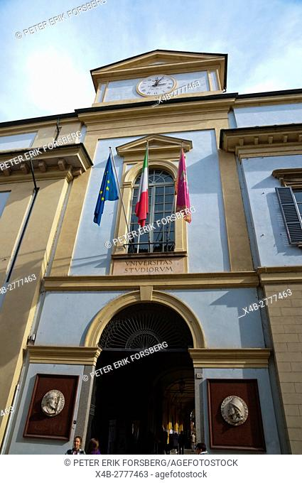 University of Pavia, main building, houses university museum, Pavia, Lombardy, Italy