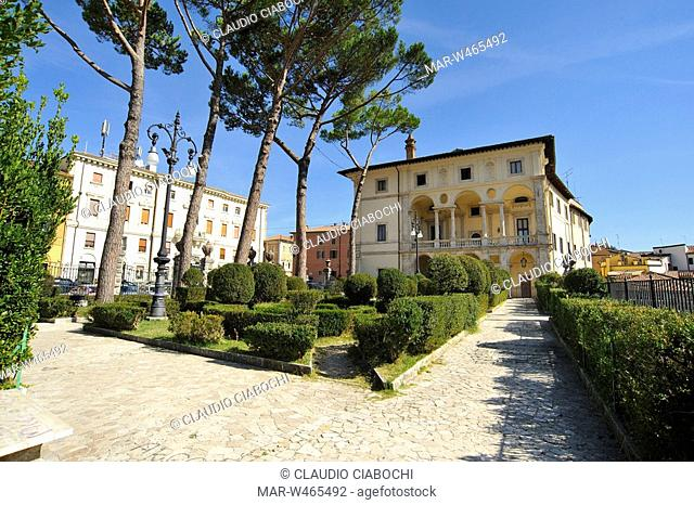 vignola palace, piazza oberdan, rieti, lazio, italy