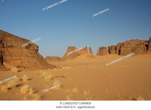 Algeria, Africa, north Africa, desert, sand desert, Sahara, Tamanrasset, Hoggar, Ahaggar, rock, rock formation, Tassili du Hoggar, mushroom, nature, sand