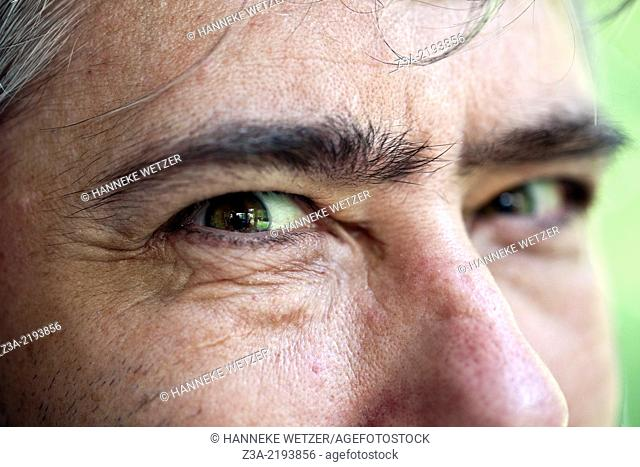 Man giving the evil eye