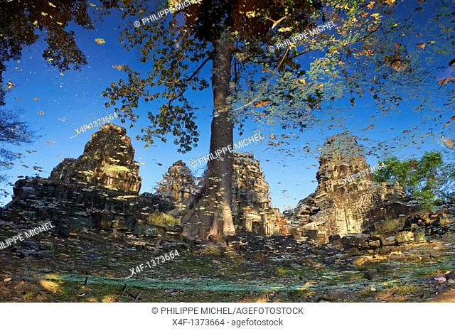 Southeast Asia, Cambodia, Siem Reap Province, Angkor site, Unesco world heritage since 1992, Banteay Kdei temple