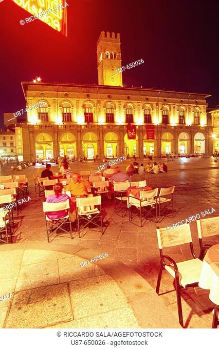 Palazzo del Podestà. Piazza Maggiore (Main Square). Bologna. Emilia Romagna. Italy