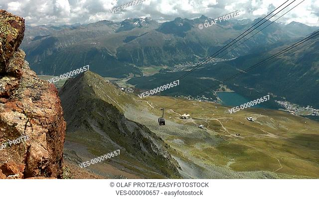 Cable Car to Piz Nair, Engadin, Switzerland, Schweiz