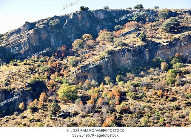 Cliffs in Patones. Madrid. Spain. Europe