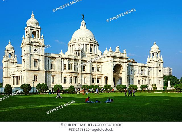 India, West Bengal, Kolkata, Calcutta, Chowringhee, Victoria Memorial