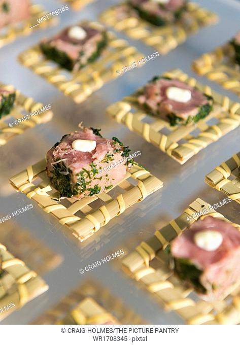 Savoury Canapes on a tray