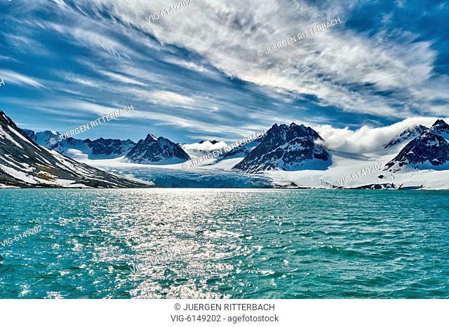 landscape of Magdalenefjorden, Svalbard or Spitsbergen, Europe - , Svalbard, 22/06/2018