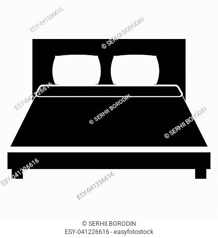 Bed it is the black color icon