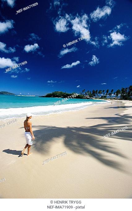 A woman on a beach, the Dominican Republic