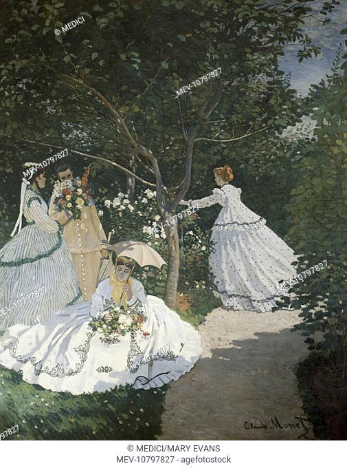 Femmes dans le Jardin' – Women in the Garden – four women with flowers