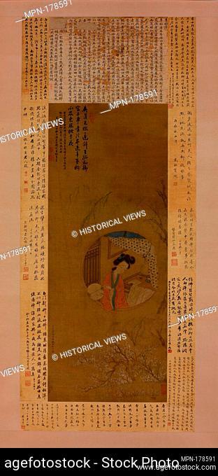 清 李香君小影 軸/Portrait of Li Xiangjun. Artist: Cui He (Chinese, active 1800-1850); Period: Qing dynasty (1644-1911); Date: dated 1817; Culture: China;...