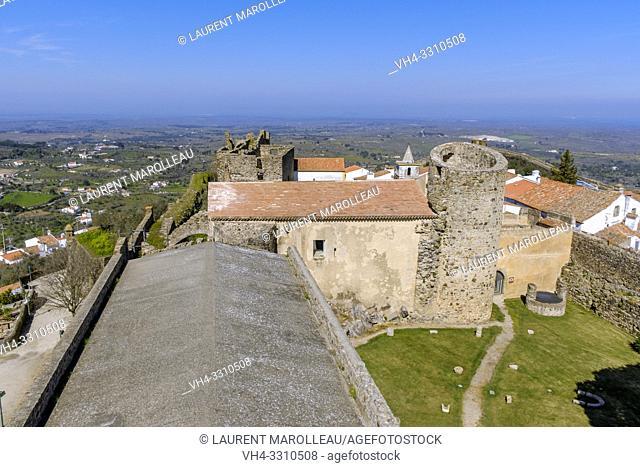 View of castle of Castelo de Vide from the keep, Portalegre District, Alentejo Region, Portugal