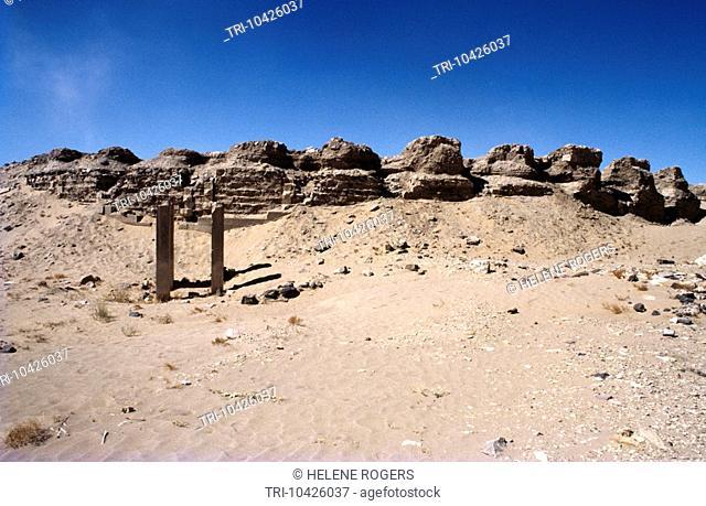 Marib Yemen Ruins Of Temple At Marib - Saba